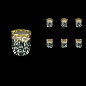 Adagio B2 AEGI Whisky Glasses 350ml 6pcs in Flora´s Empire Golden Ivory Decor (25-595)