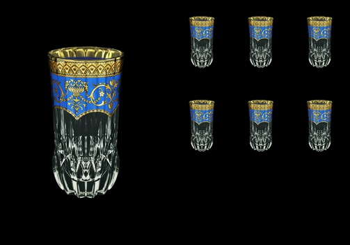 Adagio B0 AEGC Water Glasses 400ml 6pcs in Flora´s Empire Golden Blue Decor (23-596)