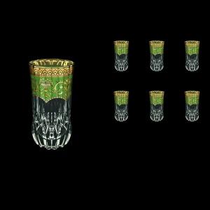 Adagio B0 AEGG Water Glasses 400ml 6pcs in Flora´s Empire Golden Green Decor (24-596)