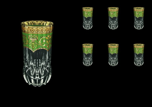 Adagio B0 AEGG Water Glasses 400ml 6pcs in Flora´s Empire Golden Green Decor (24-596)