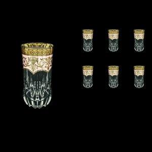 Adagio B0 AEGI Water Glasses 400ml 6pcs in Flora´s Empire Golden Ivory Decor (25-596)