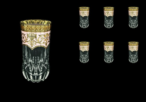 Adagio B0 AEGI Water Glasses 400ml 6pcs in Flora´s Empire Golden Ivory Decor (25-596)