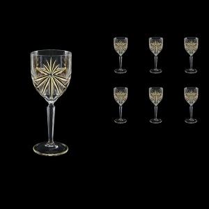 Oasis C3 OOG KCR Wine Glasses 231ml 6pcs in Full Star Gold+KCR (1309/KCR)