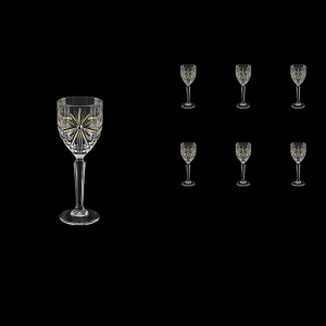 Oasis C5 OCG KCR Liqueur Glasses 78ml 6pcs in Half Star Gold+KCR (1291/KCR)
