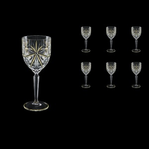 Oasis C3 OCG KCR Wine Glasses 231ml 6pcs in Half Star Gold+KCR (1292/KCR)