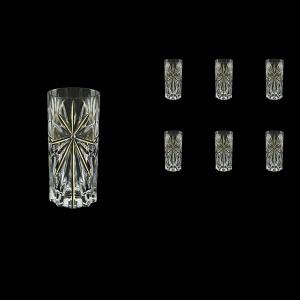 Oasis B0 OCG KCR Water Glasses 360ml 6pcs in Half Star Gold+KCR (1294/KCR)