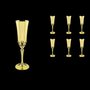 Adagio CFL AAG Champagne Flutes 180ml 6pcs in Gold (1316)