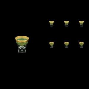 Fusion B5 FEGG Liqueur Tumblers 65ml 6pcs in Flora´s Empire Golden Green Decor (24-540)