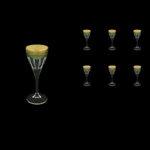 Fusion C5 FEGG Liqueur Glasses 70ml 6pcs in Flora´s Empire Golden Green Decor (24-541)