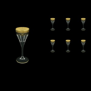 Fusion C5 FEGB Liqueur Glasses 70ml 6pcs in Flora´s Empire Golden Black Decor (26-541)