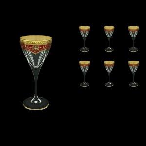 Fusion C3 FEGR Wine Glasses 210ml 6pcs in Flora´s Empire Golden Red Decor (22-542)