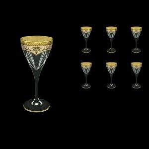 Fusion C3 FEGI Wine Glasses 210ml 6pcs in Flora´s Empire Golden Ivory Decor (25-542)