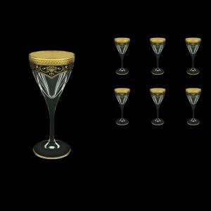 Fusion C3 FEGB Wine Glasses 210ml 6pcs in Flora´s Empire Golden Black Decor (26-542)