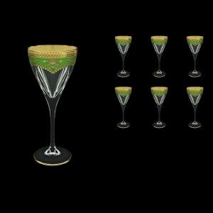 Fusion C2 FEGG Wine Glasses 250ml 6pcs in Flora´s Empire Golden Green Decor (24-543)