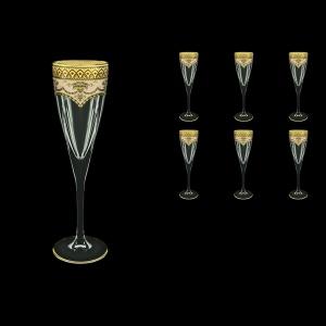 Fusion CFL FEGI Champagne Flutes 170ml 6pcs in Flora´s Empire Golden Ivory Decor (25-545)