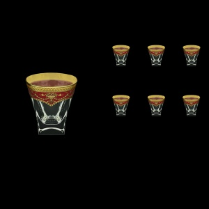 Fusion B3 FEGR Whisky Glasses 200ml 6pcs in Flora´s Empire Golden Red Decor (22-546)