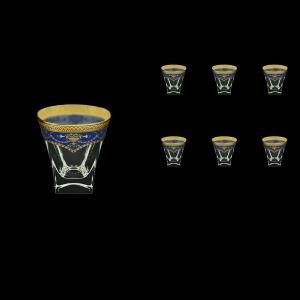 Fusion B3 FEGC Whisky Glasses 200ml 6pcs in Flora´s Empire Golden Blue Decor (23-546)