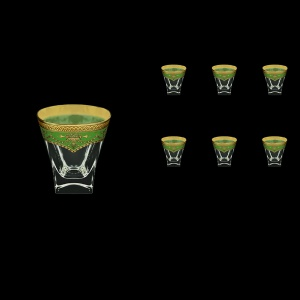 Fusion B3 FEGG Whisky Glasses 200ml 6pcs in Flora´s Empire Golden Green Decor (24-546)