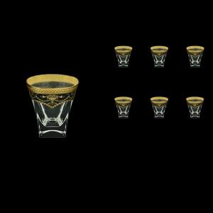 Fusion B3 FEGB Whisky Glasses 200ml 6pcs in Flora´s Empire Golden Black Decor (26-546)