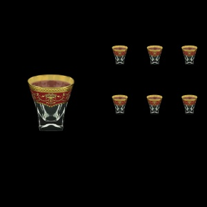 Fusion B2 FEGR Whisky Glasses 270ml 6pcs in Flora´s Empire Golden Red Decor (22-547)
