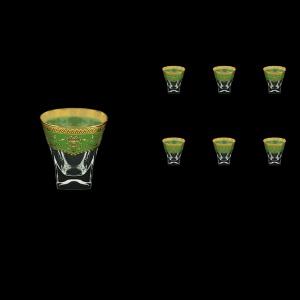 Fusion B2 FEGG Whisky Glasses 270ml 6pcs in Flora´s Empire Golden Green Decor (24-547)