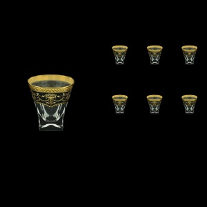 Fusion B2 FEGB Whisky Glasses 270ml 6pcs in Flora´s Empire Golden Black Decor (26-547)