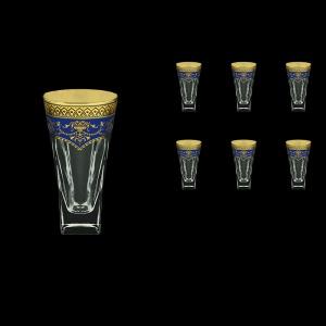 Fusion B0 FEGC Water Glasses 384ml 6pcs in Flora´s Empire Golden Blue Decor (23-548)