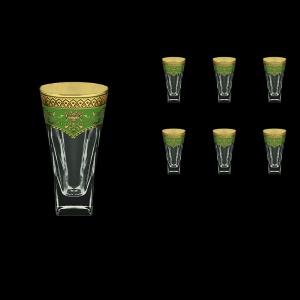 Fusion B0 FEGG Water Glasses 384ml 6pcs in Flora´s Empire Golden Green Decor (24-548)