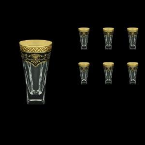 Fusion B0 FEGB Water Glasses 384ml 6pcs in Flora´s Empire Golden Black Decor (26-548)