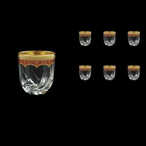 Trix B2 TEGR Whisky Glasses 400ml 6pcs in Flora´s Empire Golden Red Decor (22-566)