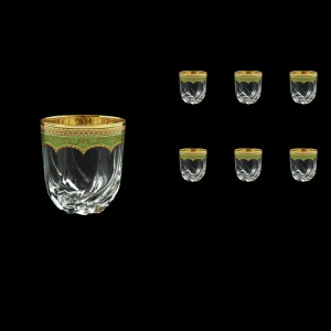 Trix B2 TEGG Whisky Glasses 400ml 6pcs in Flora´s Empire Golden Green Decor (24-566)