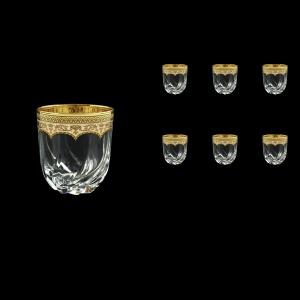Trix B2 TEGI Whisky Glasses 400ml 6pcs in Flora´s Empire Golden Ivory Decor (25-566)