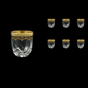 Trix B2 TEGB Whisky Glasses 400ml 6pcs in Flora´s Empire Golden Black Decor (26-566)