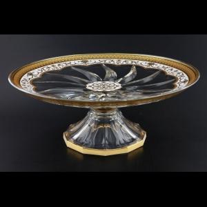 Trix CPA TEGW Cake Plate d33cm 1pc in Flora´s Empire Golden White Decor (21-588)