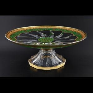 Trix CPA TEGG Cake Plate d33cm 1pc in Flora´s Empire Golden Green Decor (24-588)
