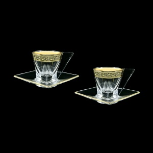 Fusion ES FMGB b Cup Espresso 76ml 2pcs in Lilit Golden Black Decor (31-335/2)