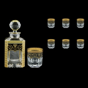 Provenza Set WD+B2 PEGB 750ml+6x280ml 1+6pcs in Flora´s Empire Gold. Black D. (26-528/527)