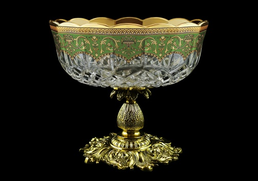 Opera MVZ OEGG Large Bowl d23cm 1pc in Flora´s Empire Golden Green Decor (24-532/JJ02)