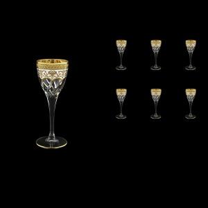 Trix C5 TEGW Liqueur Glasses 70ml 6pcs in Flora´s Empire Golden White Decor (21-561)