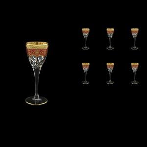 Trix C5 TEGR Liqueur Glasses 70ml 6pcs in Flora´s Empire Golden Red Decor (22-561)