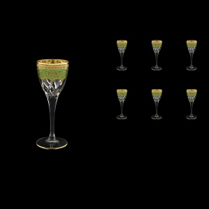 Trix C5 TEGG Liqueur Glasses 70ml 6pcs in Flora´s Empire Golden Green Decor (24-561)