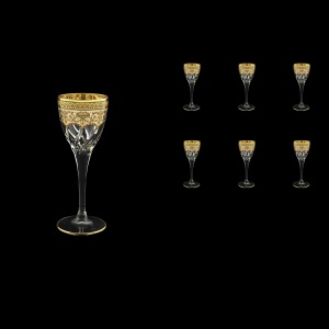 Trix C5 TEGI Liqueur Glasses 70ml 6pcs in Flora´s Empire Golden Ivory Decor (25-561)
