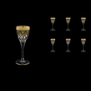 Trix C5 TEGB Liqueur Glasses 70ml 6pcs in Flora´s Empire Golden Black Decor (26-561)