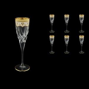 Trix CFL TEGW Champagne Flutes 120ml 6pcs in Flora´s Empire Golden White Decor (21-564)