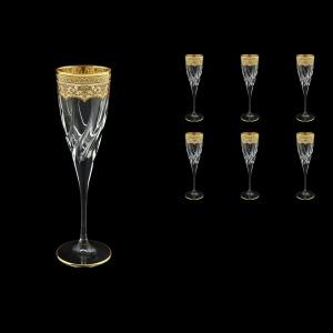 Trix CFL TEGI Champagne Flutes 120ml 6pcs in Flora´s Empire Golden Ivory Decor (25-564)