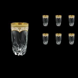 Trix B0 TEGW Water Glasses 470ml 6pcs in Flora´s Empire Golden White Decor (21-567)