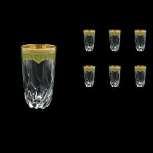 Trix B0 TEGG Water Glasses 470ml 6pcs in Flora´s Empire Golden Green Decor (24-567)
