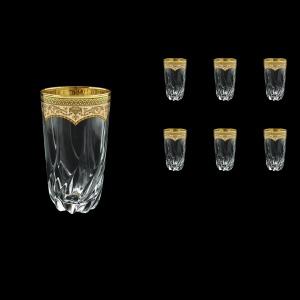 Trix B0 TEGI Water Glasses 470ml 6pcs in Flora´s Empire Golden Ivory Decor (25-567)