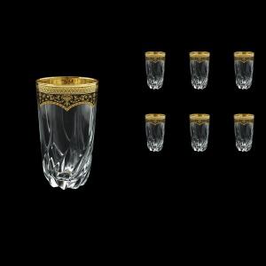 Trix B0 TEGB Water Glasses 470ml 6pcs in Flora´s Empire Golden Black Decor (26-567)