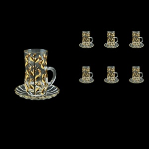 Laurus TS LLG Tea Cup 6x140ml 6pcs in Gold (1358/6)